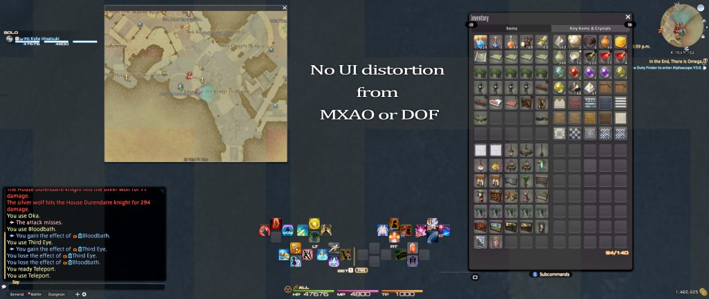 No UI distortion
